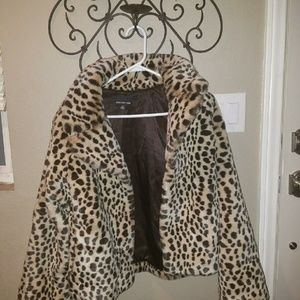 Jones New York faux fur fully lined coat